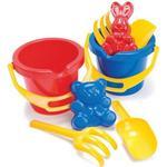 Spades - Plasti Dantoy Bucket Set in Net 4pcs 1429