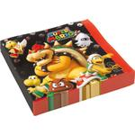 Amscan Napkins Super Mario Luncheon 20-pack