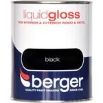 Metal Paint price comparison Berger Liquid Gloss Wood Paint, Metal Paint Black 0.75L