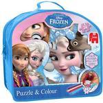 Draw-yourself Puzzles Jumbo Disney Frozen Puzzle & Colour