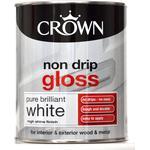 Metal Paint Metal Paint price comparison Crown Non Drip Gloss Wood Paint, Metal Paint White 0.75L