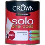 Crown Solo One Coat Wood Paint, Metal Paint White 0.75L