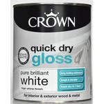 Metal Paint Metal Paint price comparison Crown Quick Dry Gloss Wood Paint, Metal Paint White 0.75L