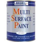 Metal Paint Bedec Multi Surface Wood Paint, Metal Paint White 0.75L