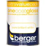 Metal Paint price comparison Berger One Coat Gloss Wood Paint, Metal Paint White 1.25L