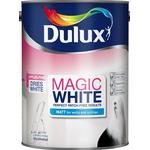 Dulux Magic White Matt Wall Paint, Ceiling Paint White 5L