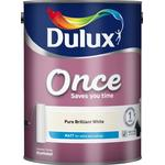 Top Coating Paint Dulux Once Matt Wall Paint, Ceiling Paint White 5L