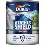 Dulux Weathershield Quick Dry Exterior Wood Paint, Metal Paint White 0.75L