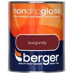 Metal Paint price comparison Berger Non Drip Gloss Wood Paint, Metal Paint Brown 0.75L