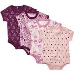 Stars - Bodysuits Children's Clothing Pippi Body 4-pack - Lilac (3820-600)