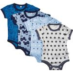 Stars - Bodysuits Children's Clothing Pippi Body 4-pack - Blue (3820-725)