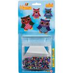 Animals - Beads Hama Mini Beads Small Blister Pack Owls 5507