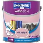 Johnstones Washable Matt Wall Paint, Ceiling Paint Pink 2.5L