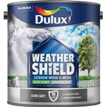 Dulux Weathershield Quick Dry Undercoat Exterior Wood Paint, Metal Paint Grey 2.5L