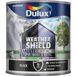 Dulux Weathershield Multisurface Wood Paint, Metal Paint Black 2.5L