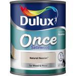 Dulux Once Satinwood Wood Paint, Metal Paint Beige 0.75L