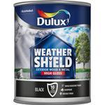 Dulux Weathershield Exterior Wood Paint, Metal Paint Black 0.75L