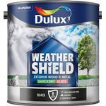 Dulux Weathershield Exterior Wall Paint, Metal Paint Black 2.5L