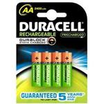 NiMH - Rechargeable Standard Batteries Duracell AA Rechargeable 2500mAh Compatible 2-pack
