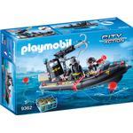 Police Toys Playmobil Swat Boat 9362