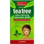 Pore Cleansing Strips - Deep Cleansing Beauty Formulas Tea Tree Deep Cleansing Nose Pore Strips 6-pack