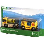 Wood - Lorry Brio Tanker Truck with Wagon 33907