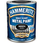 Metal Paint Hammerite Direct to Rust Smooth Effect Metal Paint Black 0.25L
