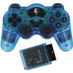 ZedLabz Wireless RF Double Shock Vibration Controller (PS2/PS1) - Blue