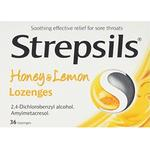 Amylmetacresol Medicines Strepsils Honey & Lemon 1.2mg 36pcs