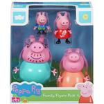 Plasti - Action Figures Character Peppa Pig Family Figure Pack