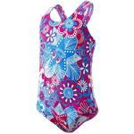 Girl - Bathing Suits Children's Clothing Speedo Essential All Over One Piece Swimsuit - Pink/Blue (807970C197)