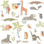 RoomMates DwellStudio Jungle Animal Peel & Stick Wall Decals