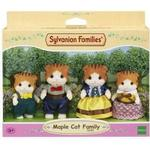 Dollhouse dolls - Fabric Sylvanian Families Maple Cat Family