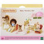 Doll-house Furniture - Plasti Sylvanian Families Baby Nursery Set