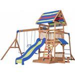 Climbing Frames - Climbing Wall Backyard Discovery Northbrook Wooden Swing Set