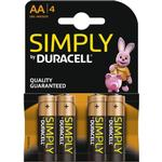 AA (LR6) - Watch Batteries Duracell AA Simply Compatible 4-pack