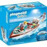 Toy Boat - Plasti Playmobil Speedboat with Underwater Motor 9428