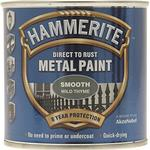 Paint Hammerite Direct to Rust Smooth Effect Metal Paint Grey 0.75L