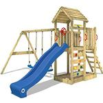 Climbing Frames - Swings Wickey Climbing Frame with Wooden Roof Multiflyer