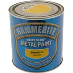 Paint Hammerite Direct to Rust Smooth Effect Metal Paint Yellow 5L