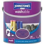 Johnstones Washable Matt Wall Paint, Ceiling Paint Purple 2.5L