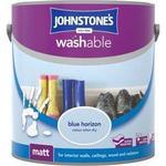 Johnstones Washable Matt Wall Paint, Ceiling Paint Blue 2.5L