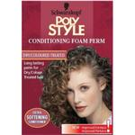 Perm Schwarzkopf Poly Style Conditioning Foam Perm for Dry/Colour Treated Hair
