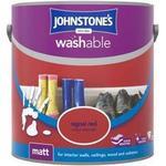 Johnstones Washable Matt Wall Paint, Ceiling Paint Red 2.5L