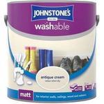 Johnstones Washable Matt Wall Paint, Ceiling Paint Off-white 2.5L
