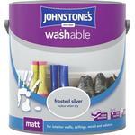 Johnstones Washable Matt Wall Paint, Ceiling Paint Silver 2.5L