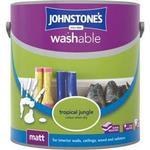 Johnstones Washable Matt Wall Paint, Ceiling Paint Green 2.5L