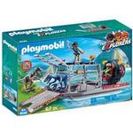 Play Set - Dinosaurie Playmobil Enemy Airboat with Raptors 9433