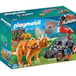 Play Set - Dinosaurie Playmobil Enemy Quad with Triceratops 9434