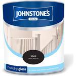 Johnstones Non Drip Gloss Wood Paint, Metal Paint Black 2.5L